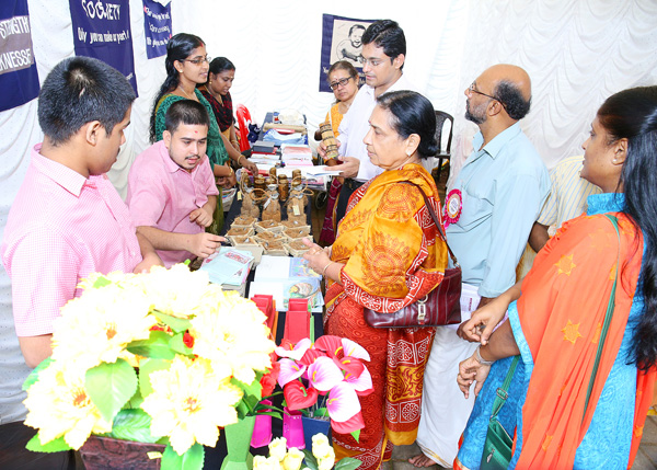 Collectors visit to the Exhibition Stall